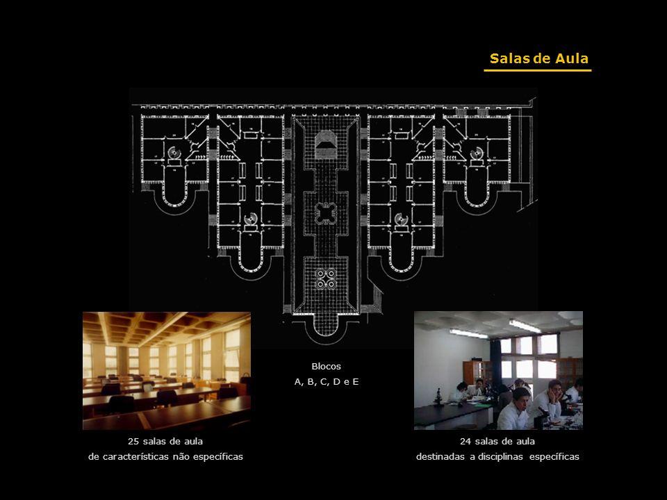 Salas de Aula Blocos A, B, C, D e E 25 salas de aula
