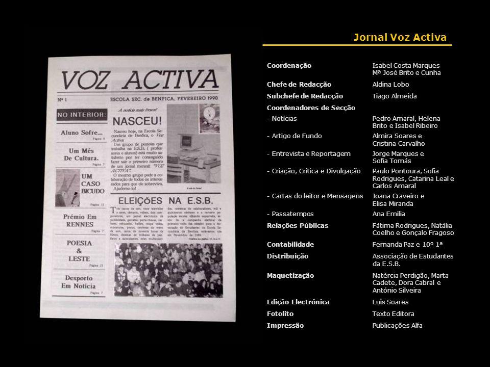 Jornal Voz Activa Coordenação Isabel Costa Marques