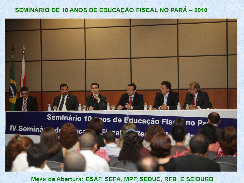 Mesa de Abertura: ESAF, SEFA, MPF, SEDUC, RFB E SEIDURB