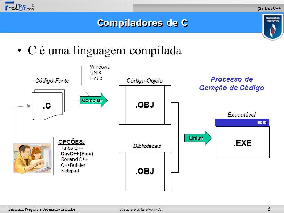 Processo de Geração de Código