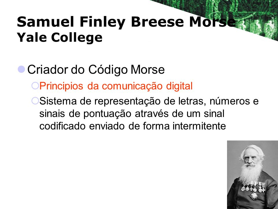 Samuel Finley Breese Morse Yale College