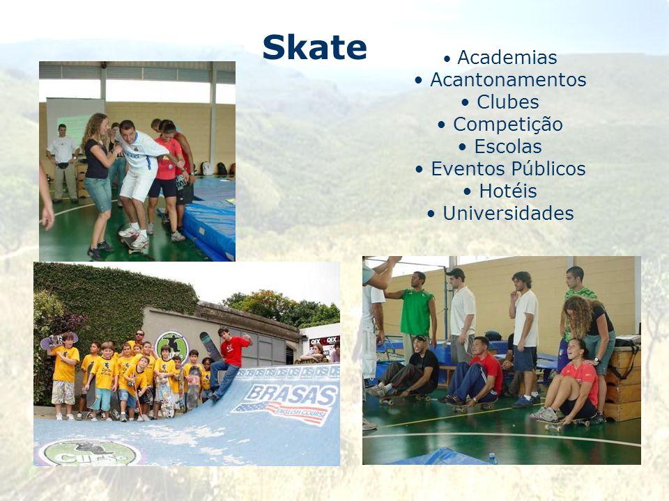 Skate Acantonamentos Clubes Competição Escolas Eventos Públicos Hotéis