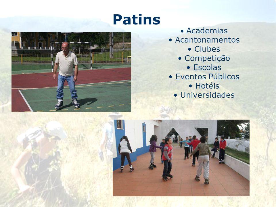 Patins Acantonamentos Clubes Competição Escolas Eventos Públicos