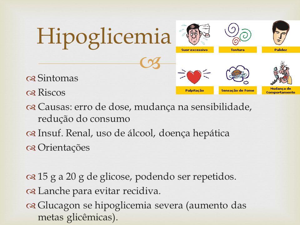 Hipoglicemia Sintomas Riscos