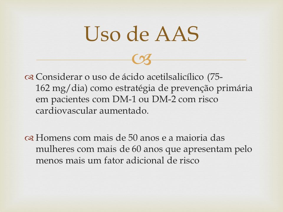 Uso de AAS