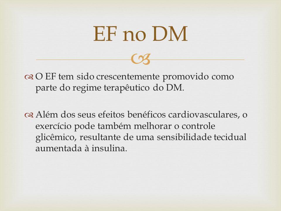EF no DMO EF tem sido crescentemente promovido como parte do regime terapêutico do DM.