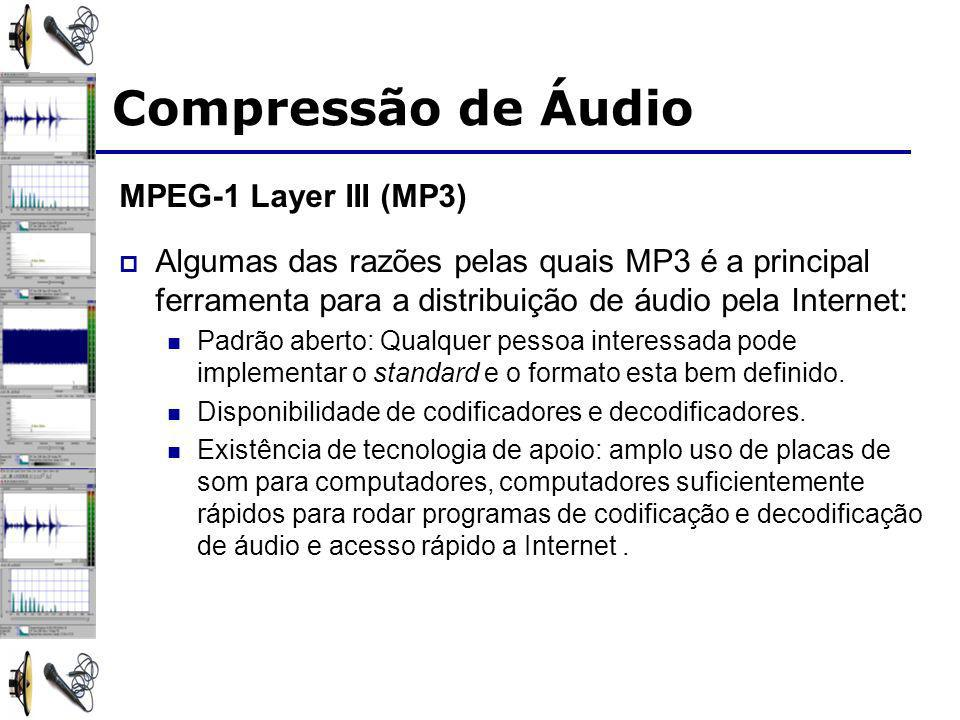 Compressão de Áudio MPEG-1 Layer III (MP3)