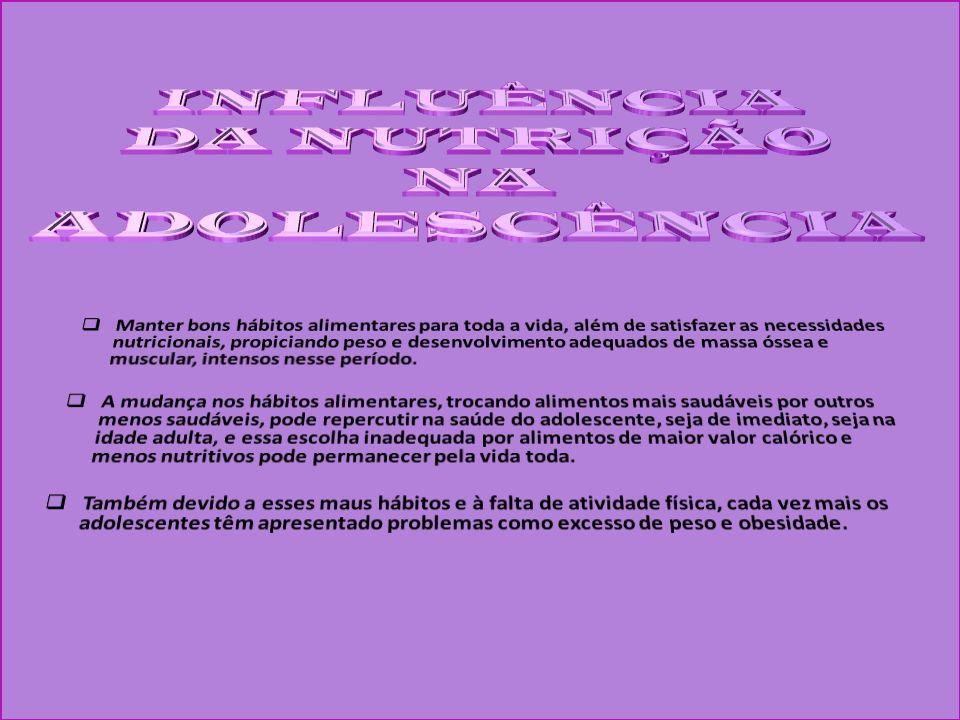 INFLUÊNCIA DA NUTRIÇÃO NA ADOLESCÊNCIA