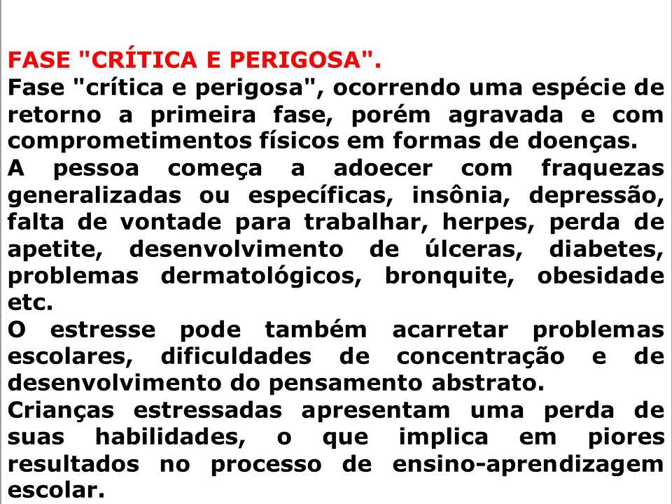FASE CRÍTICA E PERIGOSA .