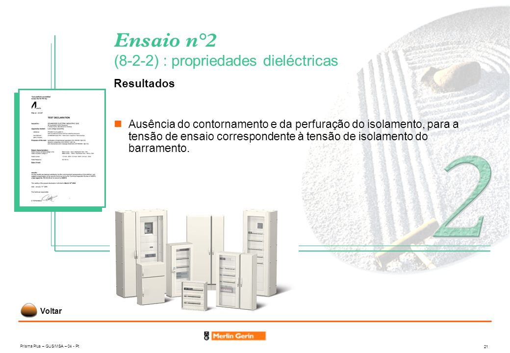Ensaio n°2 (8-2-2) : propriedades dieléctricas