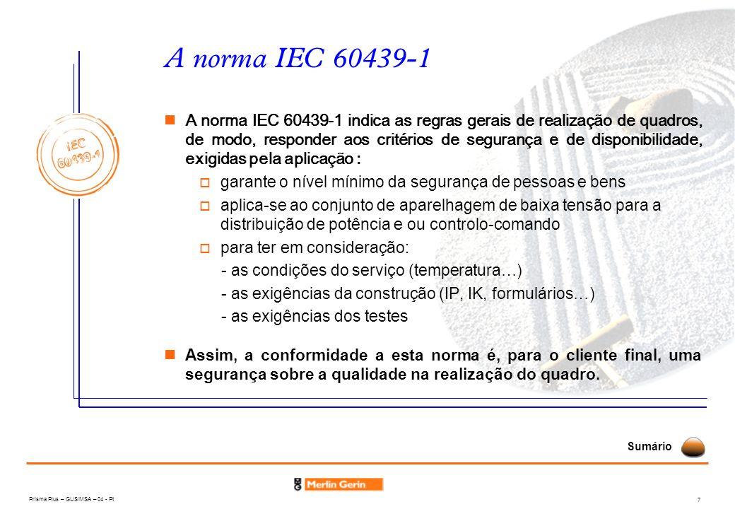 A norma IEC 60439-1