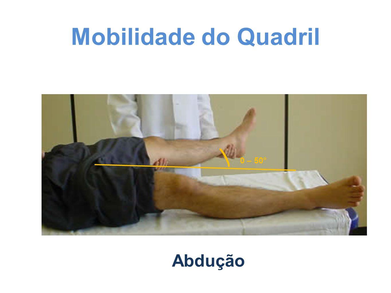 Mobilidade do Quadril 0 – 50° Abdução