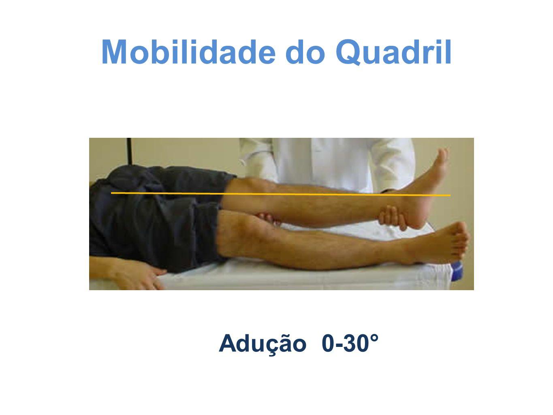 Mobilidade do Quadril Adução 0-30°