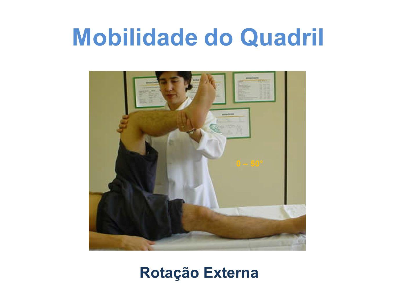 Mobilidade do Quadril 0 – 50° Rotação Externa