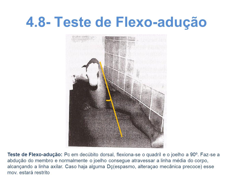 4.8- Teste de Flexo-adução