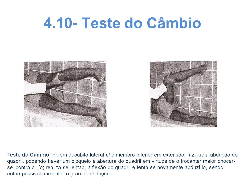 4.10- Teste do Câmbio