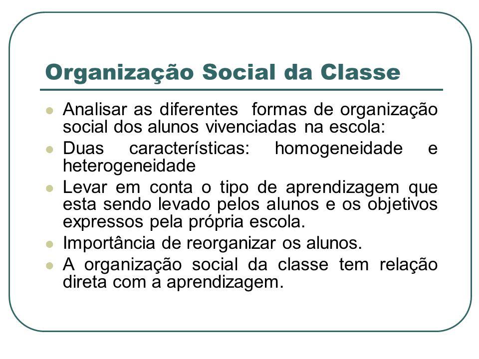Organização Social da Classe