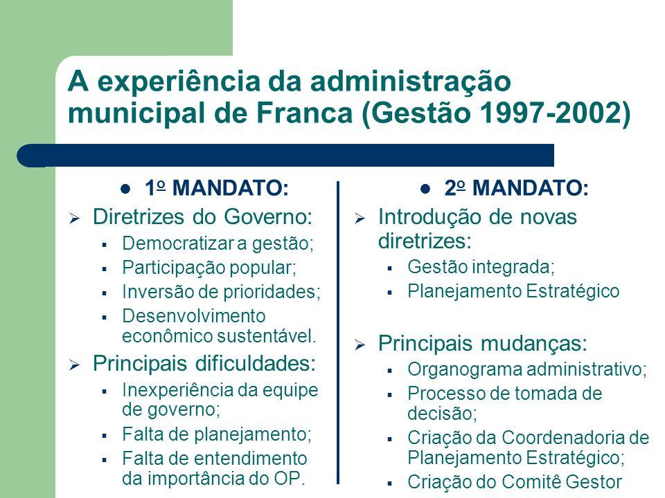 A experiência da administração municipal de Franca (Gestão 1997-2002)