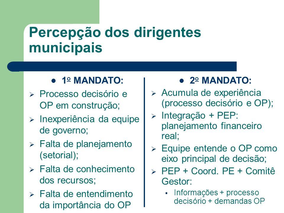 Percepção dos dirigentes municipais