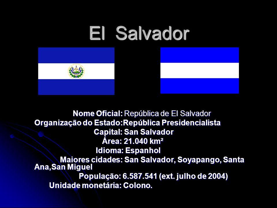 El Salvador Nome Oficial: República de El Salvador