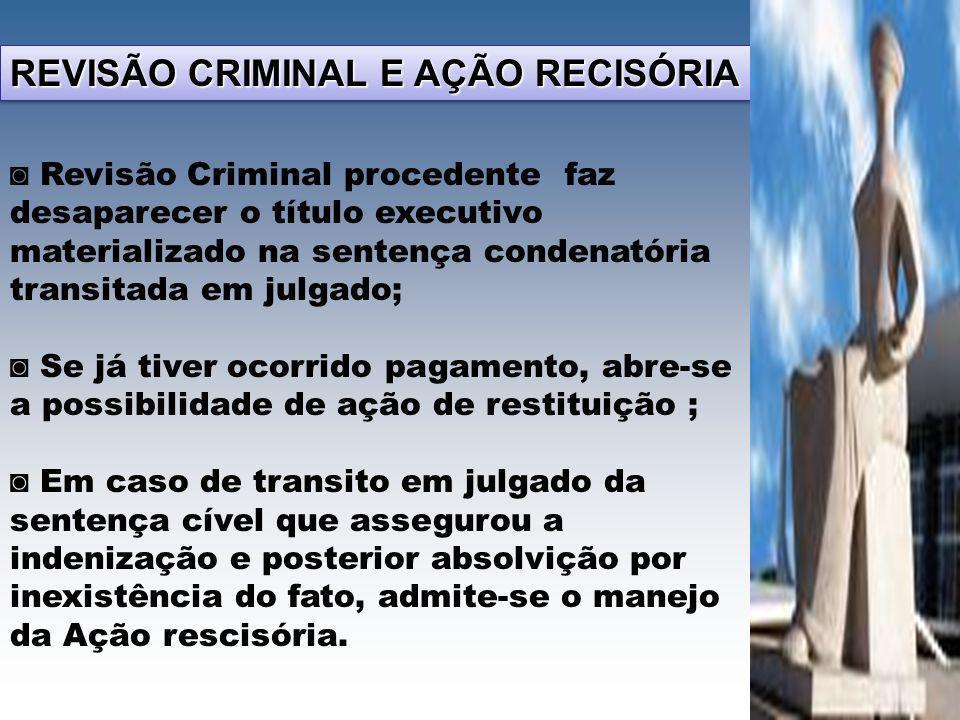 REVISÃO CRIMINAL E AÇÃO RECISÓRIA