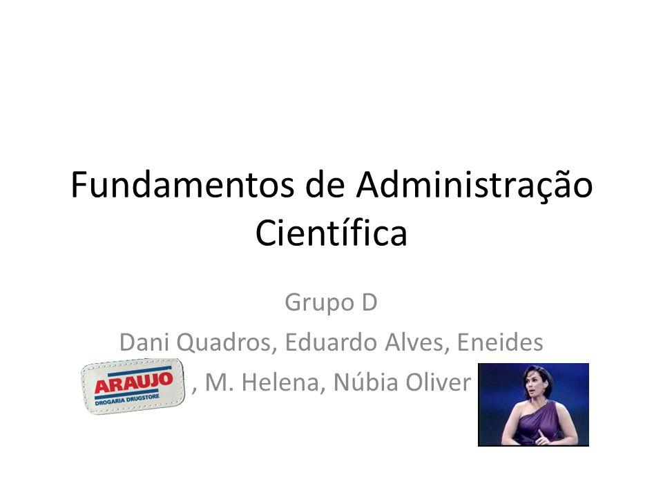 Fundamentos de Administração Científica