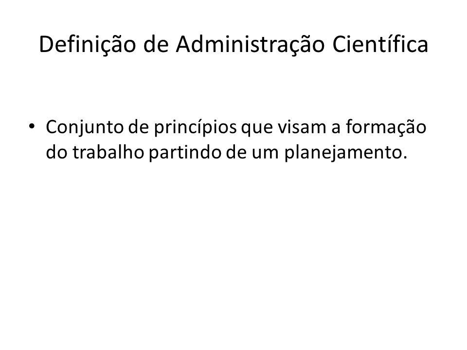 Definição de Administração Científica