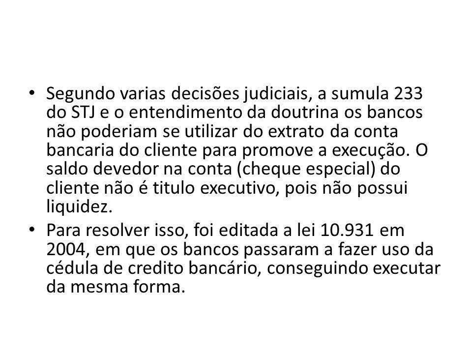 Segundo varias decisões judiciais, a sumula 233 do STJ e o entendimento da doutrina os bancos não poderiam se utilizar do extrato da conta bancaria do cliente para promove a execução. O saldo devedor na conta (cheque especial) do cliente não é titulo executivo, pois não possui liquidez.
