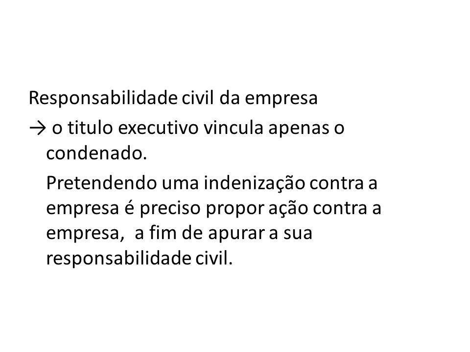 Responsabilidade civil da empresa