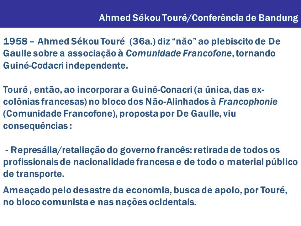 Ahmed Sékou Touré/Conferência de Bandung