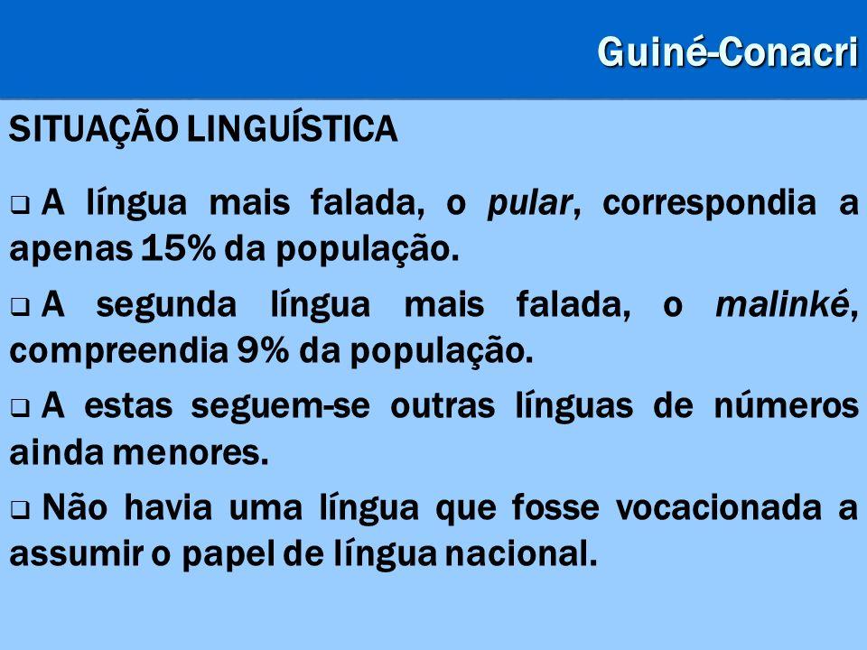 Guiné-Conacri SITUAÇÃO LINGUÍSTICA