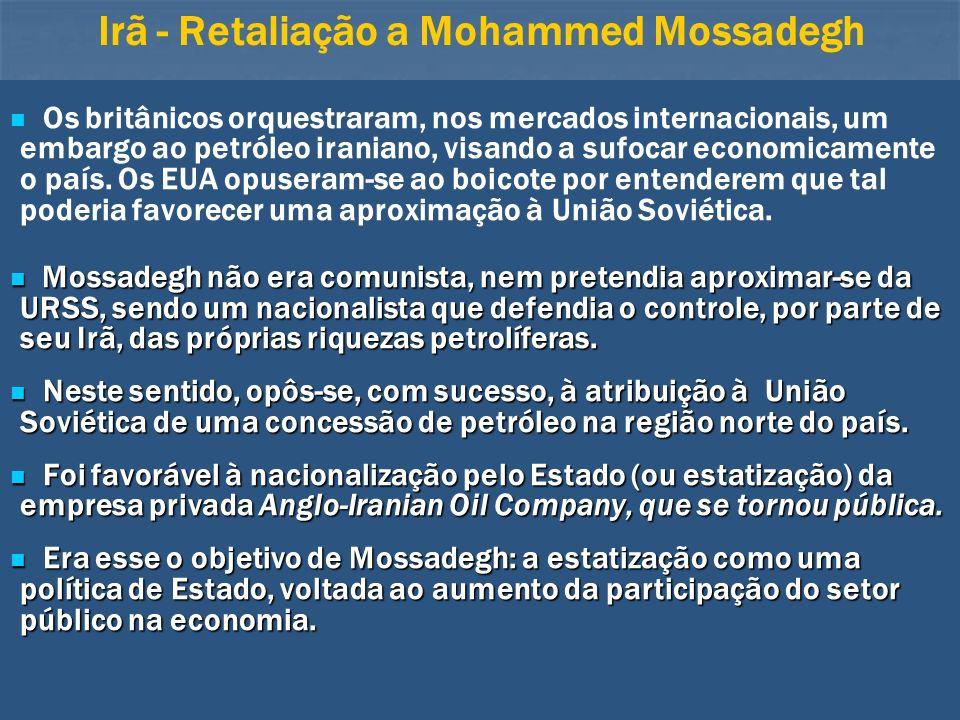 Irã - Retaliação a Mohammed Mossadegh