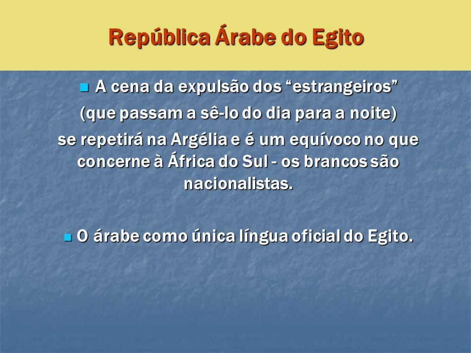 República Árabe do Egito