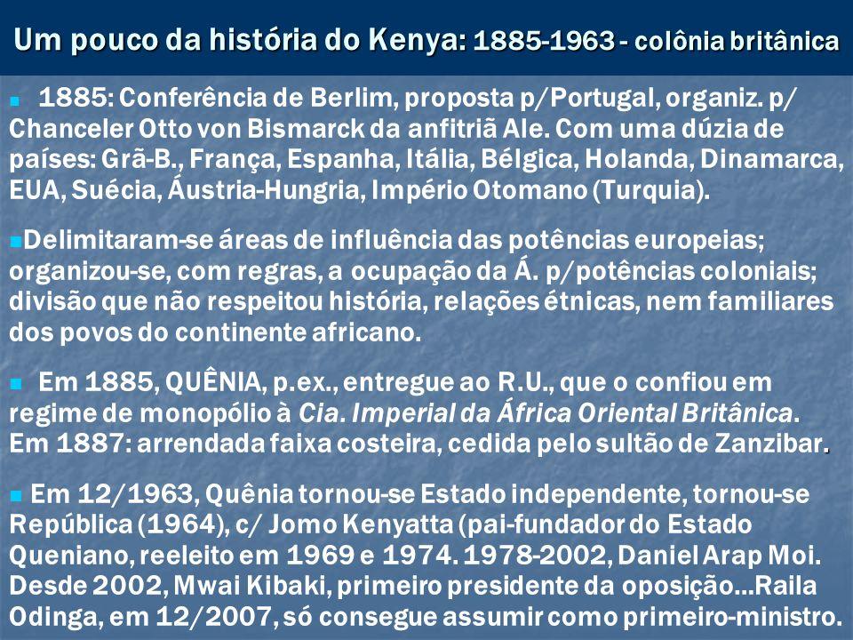 Um pouco da história do Kenya: 1885-1963 - colônia britânica