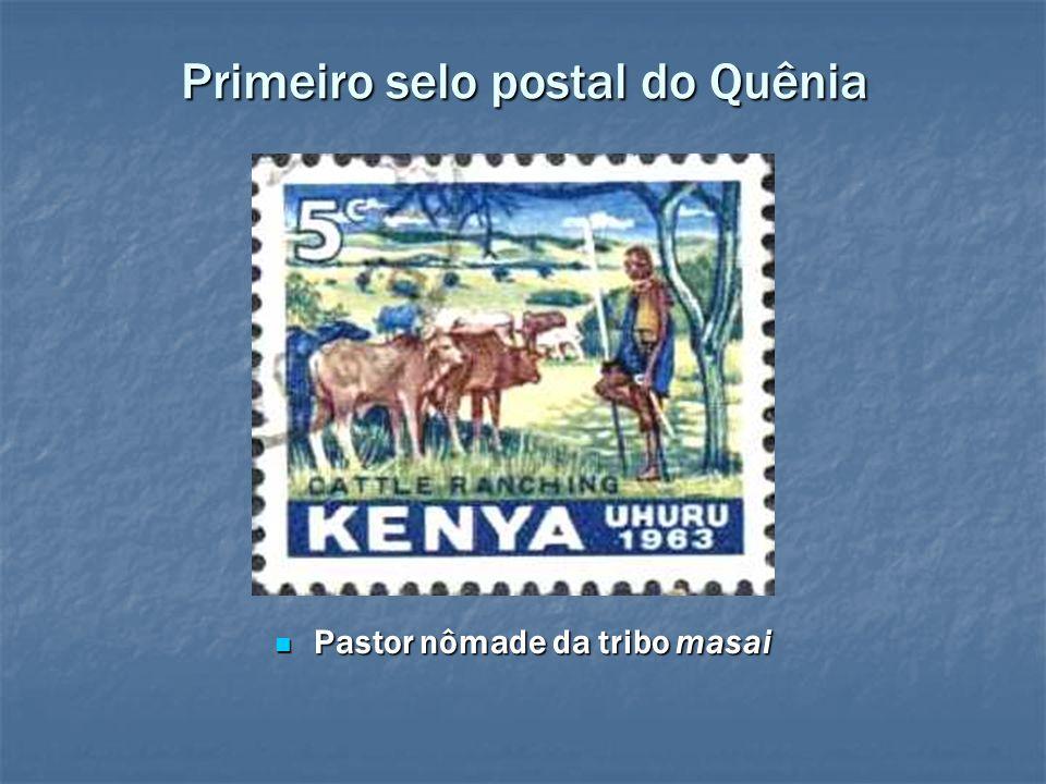 Primeiro selo postal do Quênia