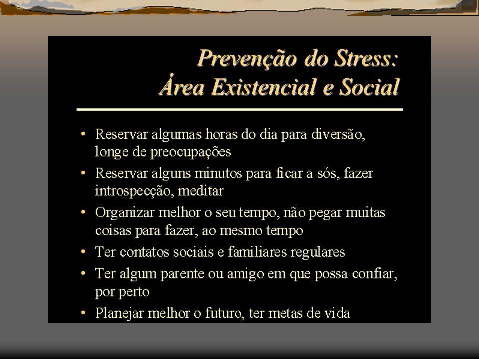 Prevenção do Stress: Área Existencial e Social
