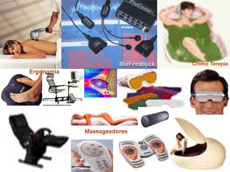 BioFeedback Cromo Terapia Ergonomia CDs Massageadores