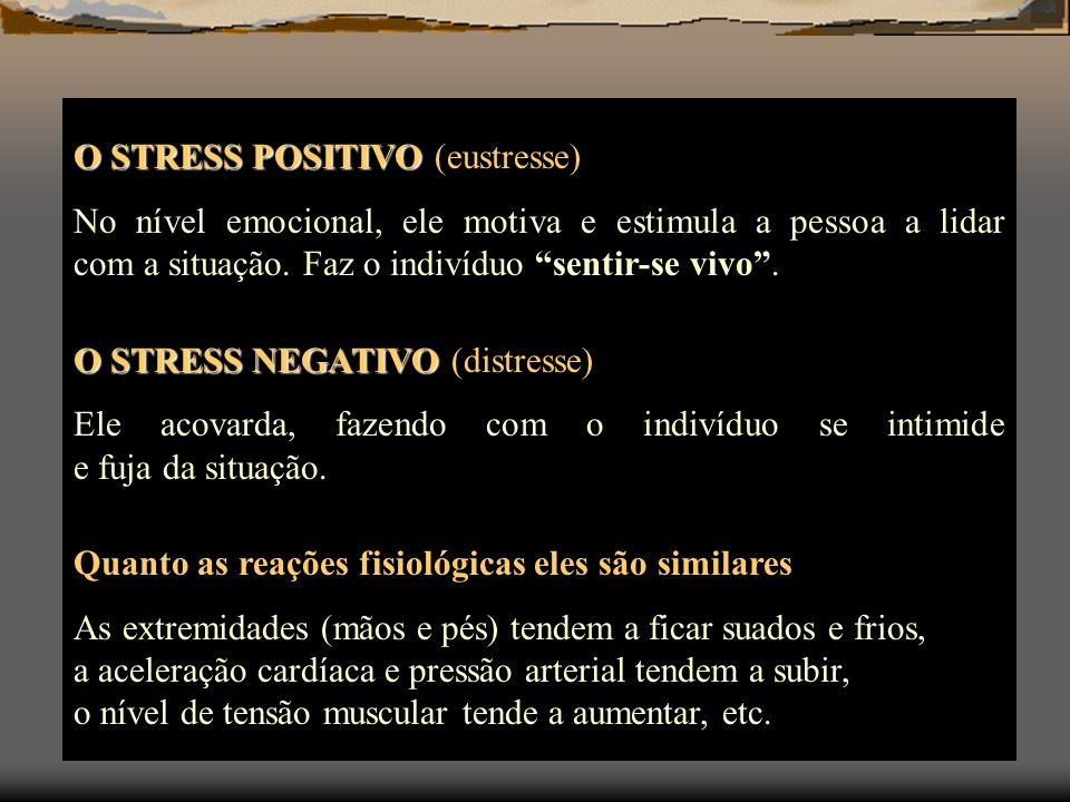 O STRESS POSITIVO (eustresse)