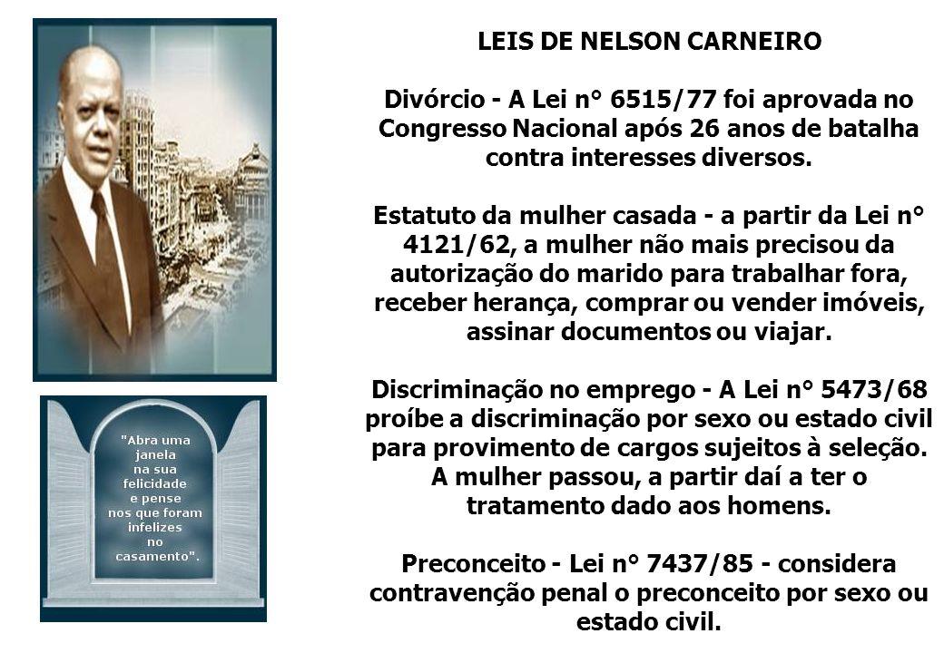 LEIS DE NELSON CARNEIRO