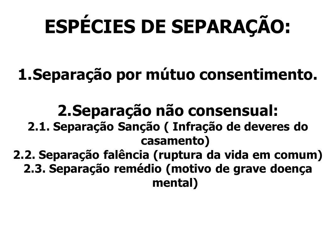 ESPÉCIES DE SEPARAÇÃO: