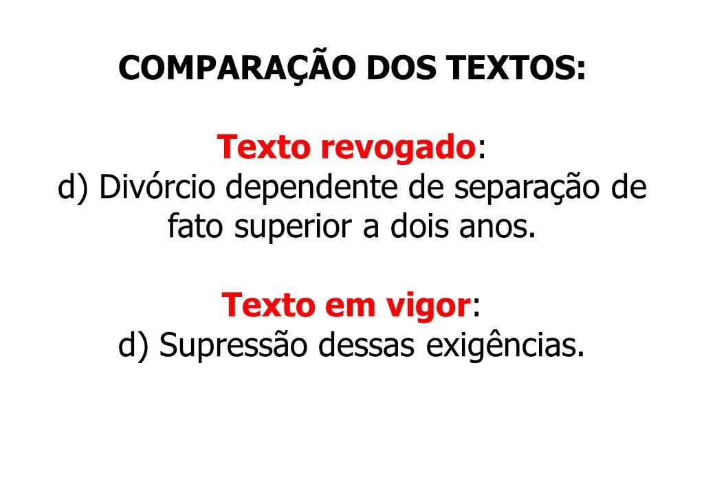 COMPARAÇÃO DOS TEXTOS: