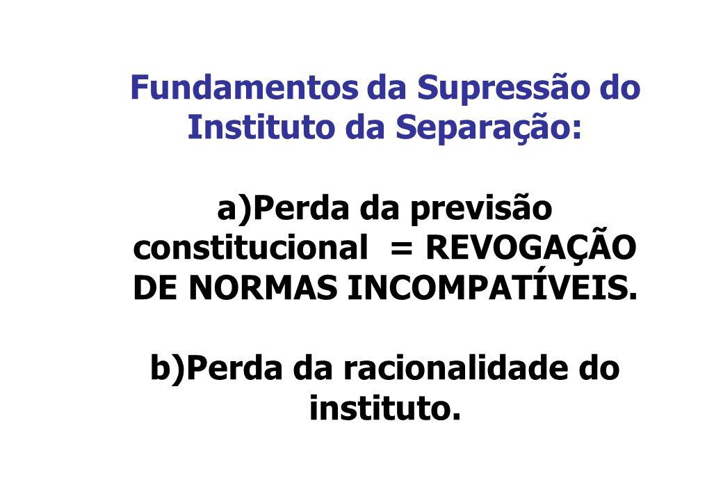 Fundamentos da Supressão do Instituto da Separação: