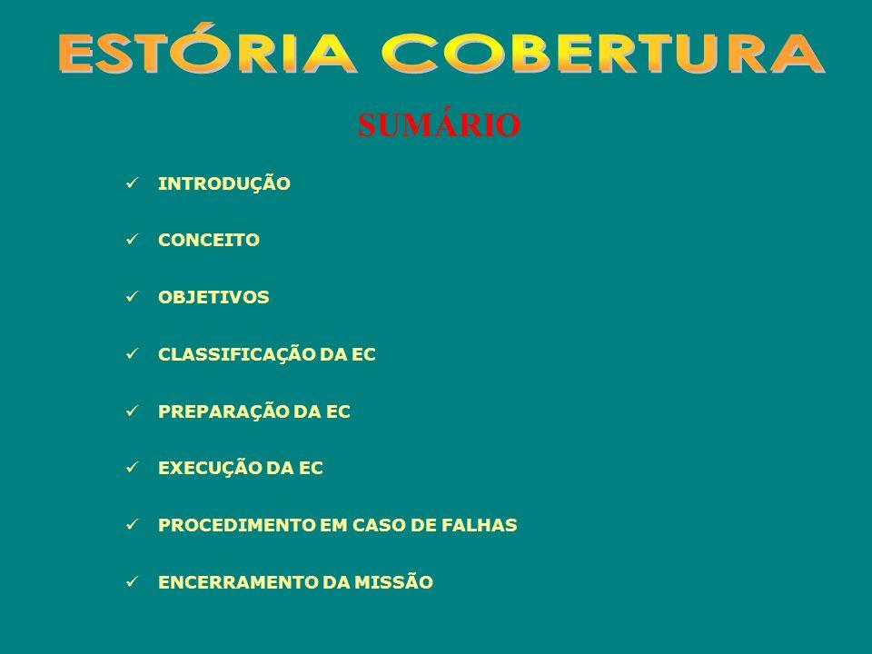 ESTÓRIA COBERTURA SUMÁRIO INTRODUÇÃO CONCEITO OBJETIVOS