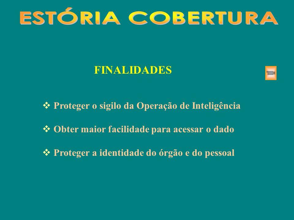ESTÓRIA COBERTURA FINALIDADES