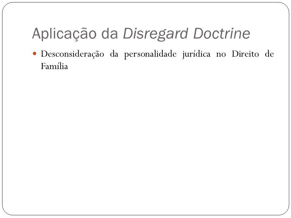 Aplicação da Disregard Doctrine