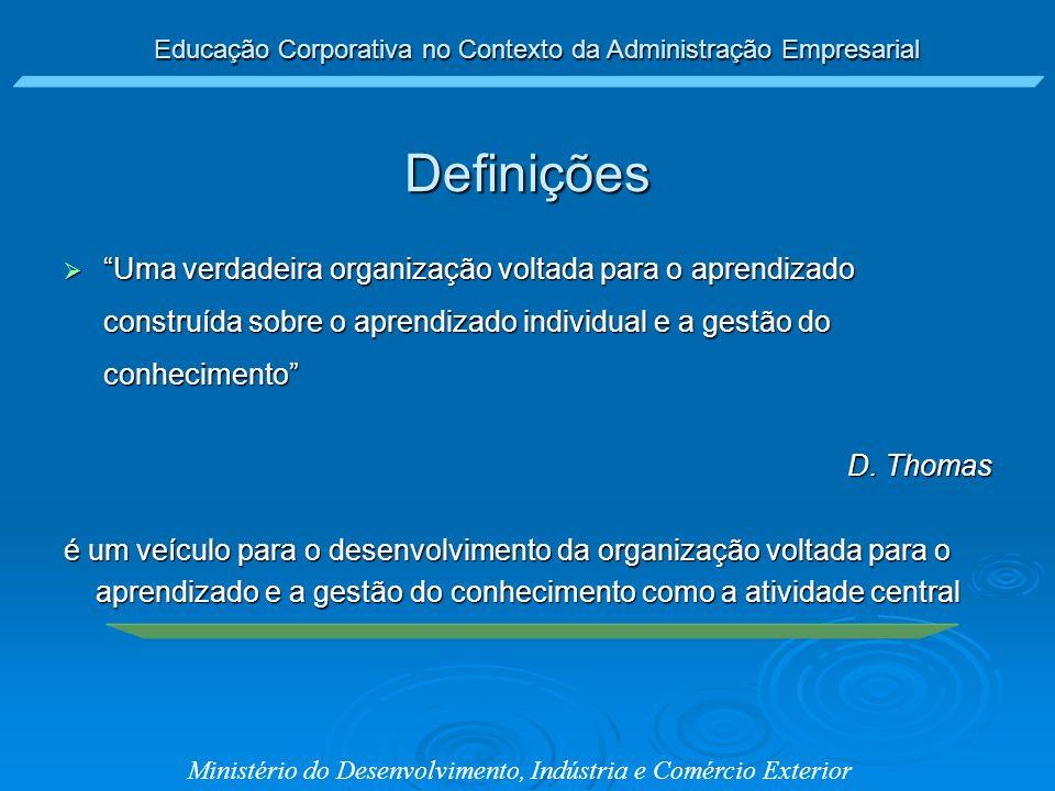 aprendizado e a gestão do conhecimento como a atividade central