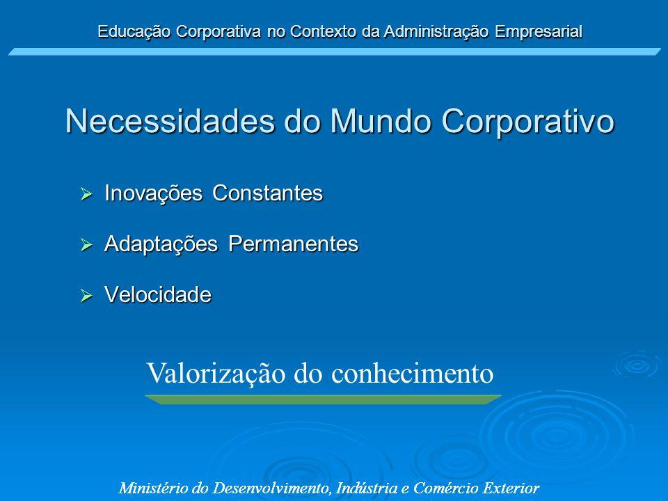 Necessidades do Mundo Corporativo