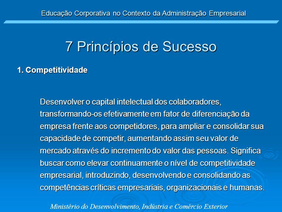 7 Princípios de Sucesso 1. Competitividade