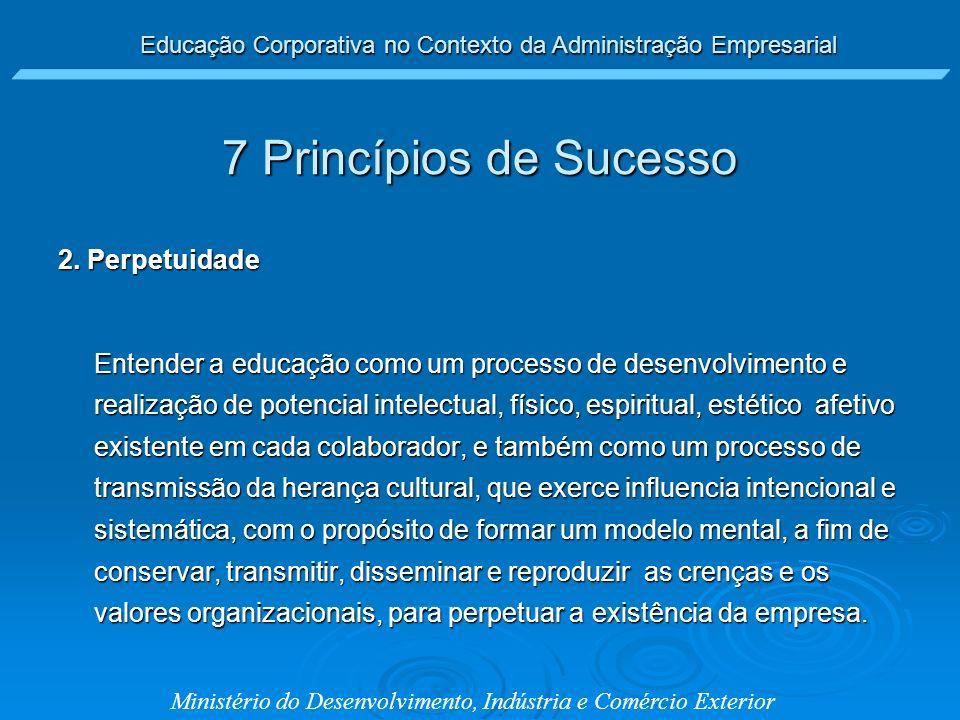 7 Princípios de Sucesso 2. Perpetuidade
