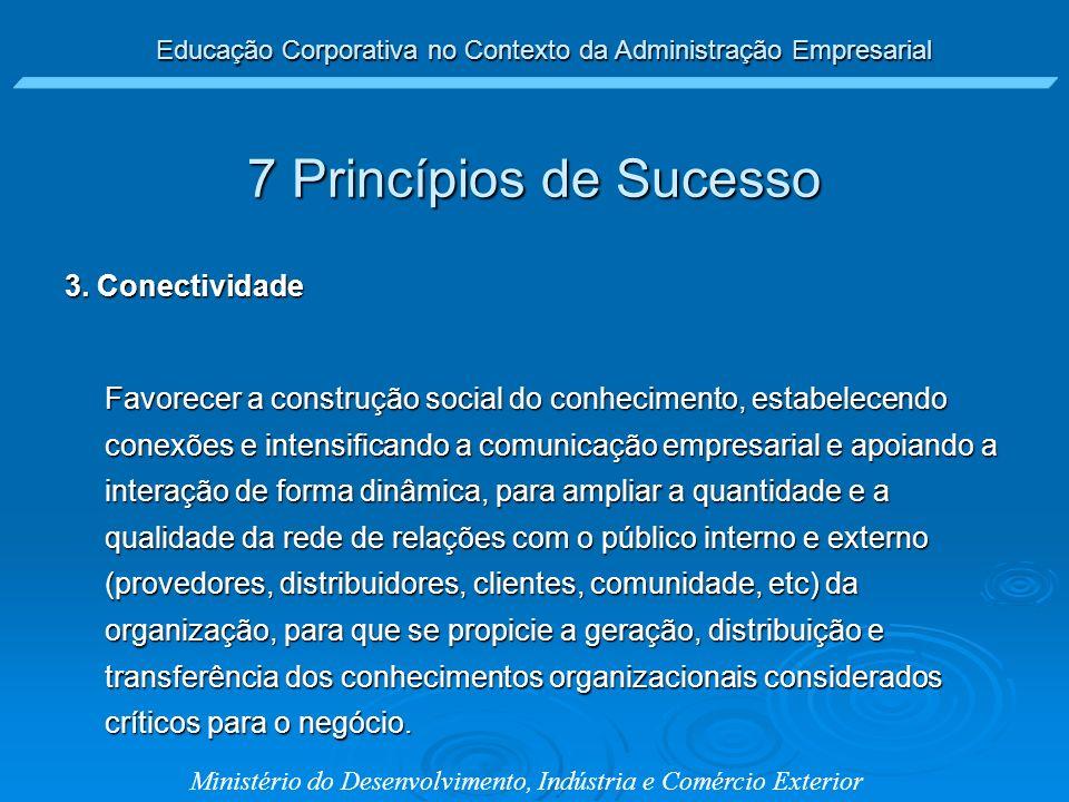 7 Princípios de Sucesso 3. Conectividade